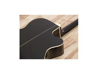 DIMAVERY JK-303L Western-Cutaway-Gitarre, EQ, schwarz für LINKSHÄNDER