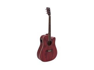 DIMAVERY JK-510 Westerngitarre, Cutaway, grained