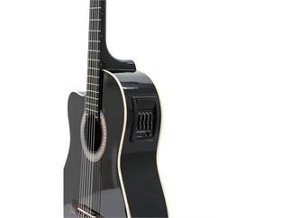 DIMAVERY CN-500L Klassik-Gitarre, schwarz für LINKSHÄNDER