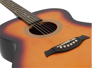 DIMAVERY AW-303 Western-Gitarre, sunburst