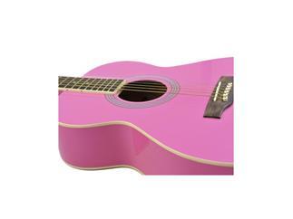 DIMAVERY AW-303 Western-Gitarre, pink