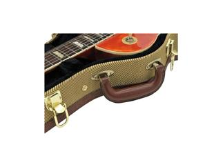 DIMAVERY Form-Case E-Gitarre LP, tweed