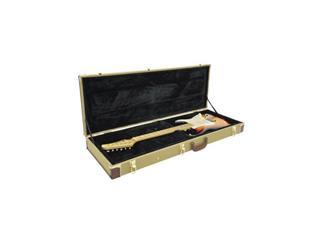 DIMAVERY Holz-Case für E-Gitarren, tweed