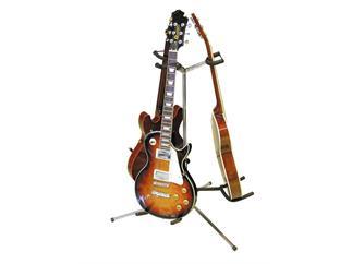 DIMAVERY Gitarrenständer 3fach silber