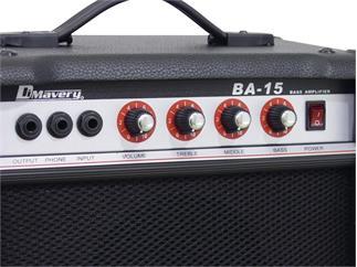 DIMAVERY BA-15 Bass-Verstärker 15W schwarz