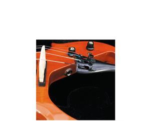 DIMAVERY E-Violine 4/4 mit Bogen, natur