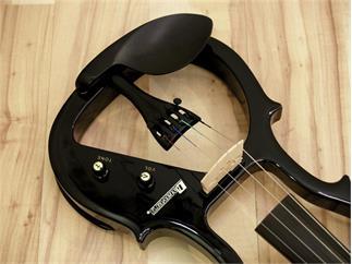 DIMAVERY E-Violine 4/4 mit Bogen, schwarz