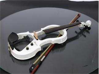 DIMAVERY E-Violine 4/4 mit Bogen, weiss