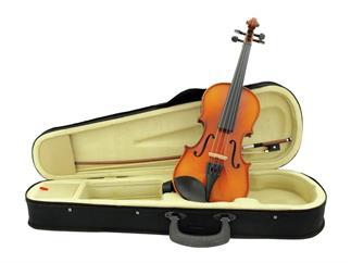 DIMAVERY Violine 1/2 mit Bogen, im Case