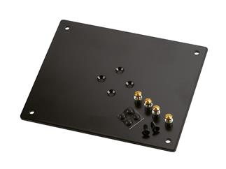 König & Meyer 26792 Aufnahmeplatte - schwarz struktur, 240 x 5 x 200 mm, 1,8 kg