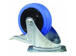 "Lenkrolle 100mm ""Blue Wheel"" mit Bremse"