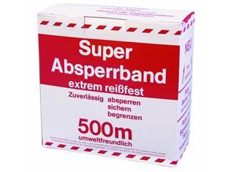 PP Absperrband rot/weiß 500mx80mm Flatterband