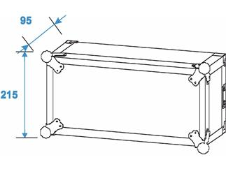 Roadinger Verstärkerrack PR-2, 4HE, 47cm tief