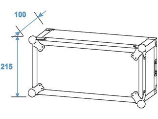 ROADINGER Verstärkerrack PR-2ST, 4HE, 57cm tief