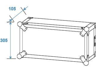 ROADINGER Verstärkerrack PR-2ST, 6HE, 57cm tief