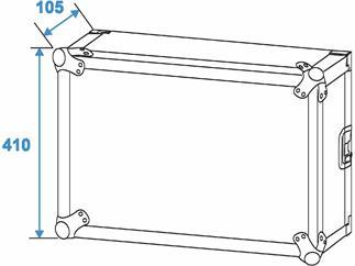Roadinger Verstärkerrack PR-2, 8HE, 47cm tief