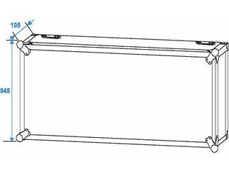 Roadinger Verstärkerrack PR-2, 20HE, 47cm tief