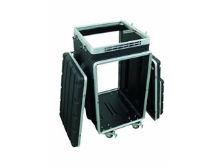 Kombi-Case Kunststoff 10/16HE m.Rollen