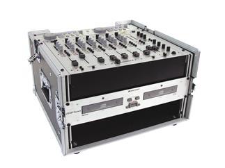 ROADINGER Spezial DJ Kombi-Case Winkelrack, 4 HE, oben 10HE