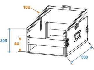 ROADINGER Spezial-Kombi-Case U 4HE