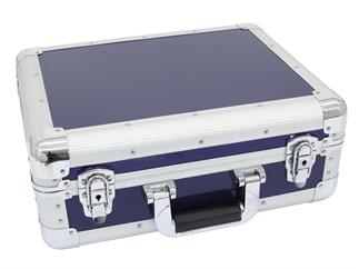 Roadinger CD-Case ALU Digital-Booking abgerundet blau