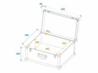 ROADINGER Universal-Koffer-Case Tour Pro 52x36x29cm schwarz