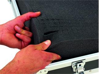 Universal-Koffer-Case FOAM Gr-2 schwarz, Mischpultcase, Schaumstoffeinlage
