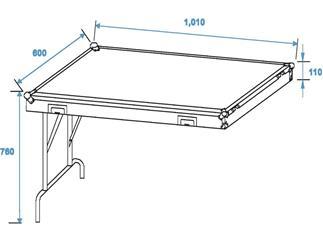 Roadinger Universal-Schubladen-Case WDS-1 Rollen
