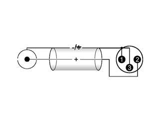 Kabel AC-06R Cinch/XLR (M),60cm, rot