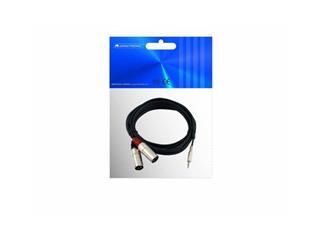 Kabel AC-15 3,5 Klinke/2xXLR male 1,5m
