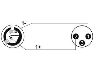 Kabel AC-225M Speaker(F)/XLR(M), 1m, sw