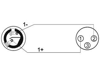 Kabel AC-225 Speaker(F)/XLR(F), 1m, sw