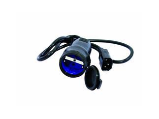 Kaltgeräte - Schutzkontakt Adapterkabel, 1m