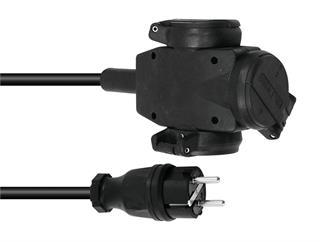 Verlängerungsl.VG-3 250V 16A 3x2,5mm 1m