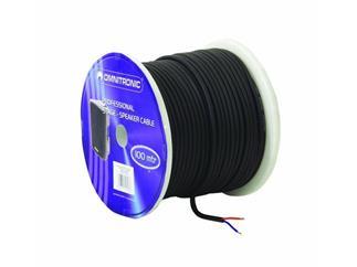 LS-Kabel trittfest, 2x1,5mm² schwarz/100m