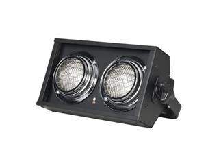 SHOWTEC STAGE BLINDER 2 DMX, schwarz, 2x 650W DWE, inkl. 1 Kanal-Dimmer