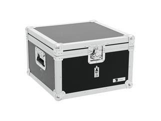 Eurolite Set 4x LED PAR-56 RGB schwarz + ROADINGER Flightcase EPS-56
