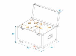 Roadinger Flightcase 2x TMH-X12 mit Rollen