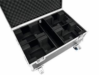ROADINGER Flightcase 4x THA-40 PC mit Rollen