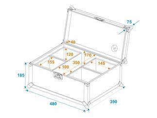 Eurolite Set 4x AKKU UP-4 QCL Spot QuickDMX + Case