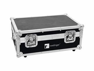 ROADINGER Flightcase 4x AKKU TL-3 Trusslight QuickDMX mit Ladefunktion