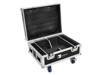 ROADINGER Flightcase 4x AKKU IP UP-4 QuickDMX mit Ladefunktion