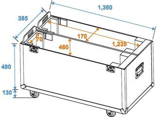 ROADINGER Transportcase Transportcase PRO für 2xLCD ZL50
