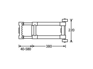 Adam Hall Hardware 3472 - Trolley 2 Auszüge Abnehmbar