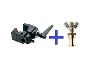 Manfrotto 035 Super-Clamp + Manfrotto 264 5/8 Zapfen- M10 (M)