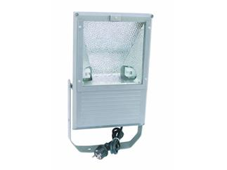 EUROLITE Outdoor Spot 150W WFL silber asymmetrisch