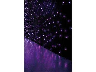 Showtec Star Dream 6x3m RGB, 8-Kanal, schwarzer Molton