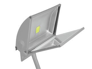 Eurolite LED KKL-50 Fluter 4100K silber