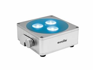 Eurolite AKKU Flat Light 3 silber