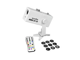 Eurolite AKKU LP-10 Gobo Projektor 10W LED inkl. 10 Gobos